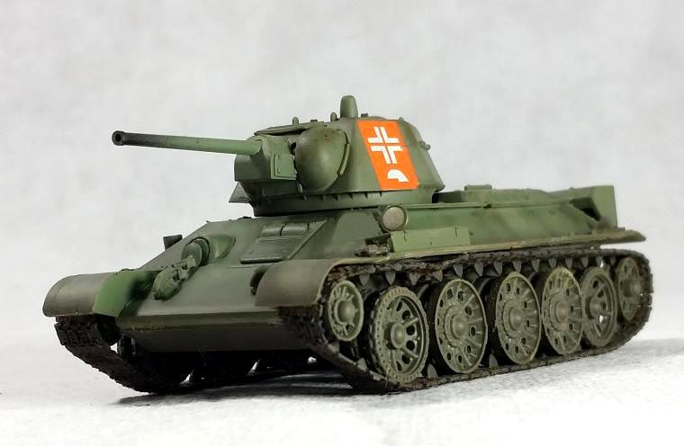 TRUMPETER 1:72 Germany Capture the Soviet <font><b>T34</b></font>-76 medium <font><b>tank</b></font> <font><b>model</b></font> 36268 Static collection <font><b>model</b></font> image