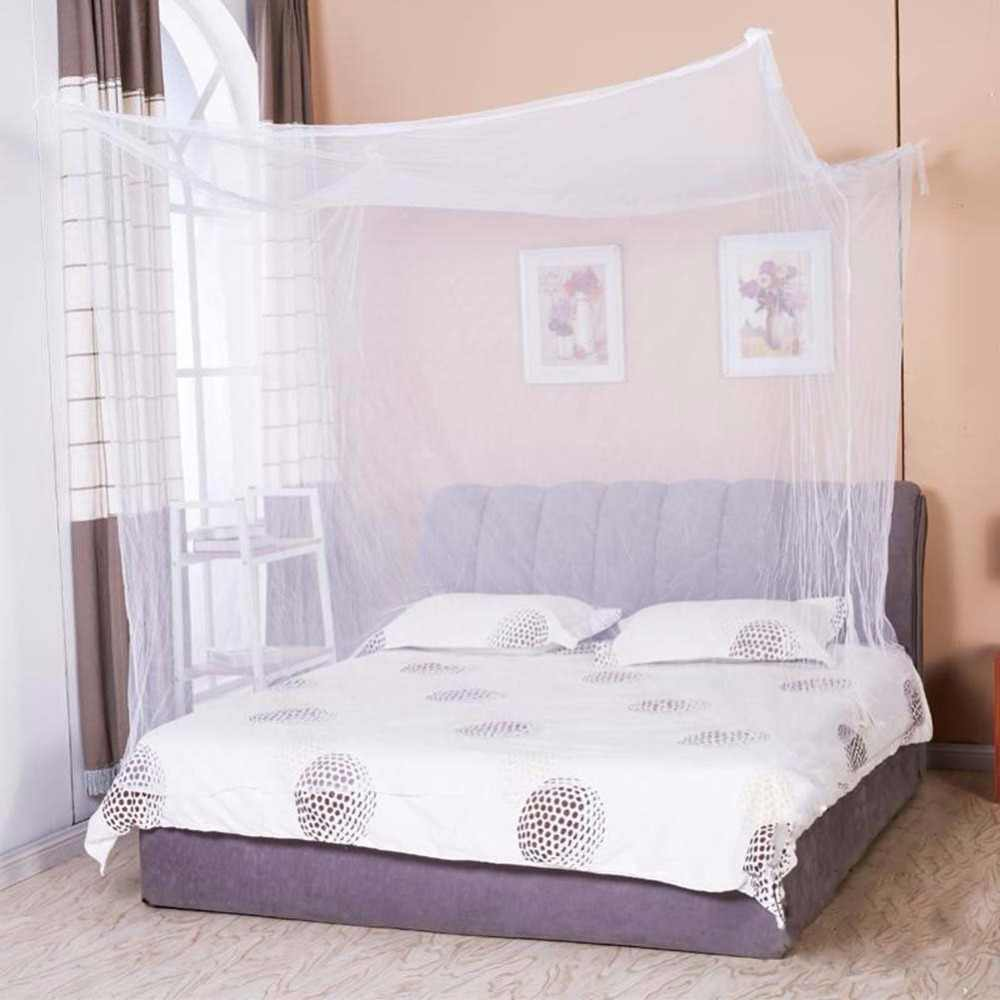 1pcs Moustiquaire Canopy White Four Corner Post Student Canopy Bed Mosquito Net Netting Queen King Twin Size 2018
