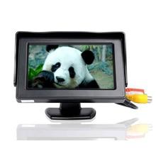 Мини-автомобиля HD Мониторы складной Цвет автомобиля обратный заднего Парковка Системы 4.3 дюймов ЖК-дисплей Мониторы для заднего вида Камера