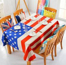 All For You Rectangle Washable Fabric Dinner Picnic Table Cloth USA Table  Cloth For Decoration