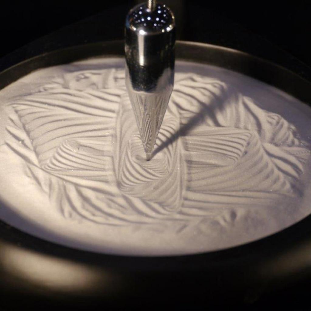 Creative Sand Pendulum Sand Painting Pendulum Gravity Sand Pendulum Stand Desktop Home Decor Ornaments