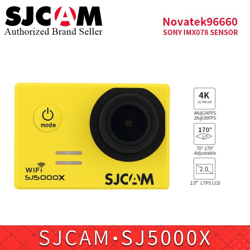 SJCAM SJ5000X Elite WiFi 4 K 24fps Gyro sport DV caméra d'action 2.0 LCD plongée 30 m étanche pro yi 4 k kamera pk h9r SJ8 AIR