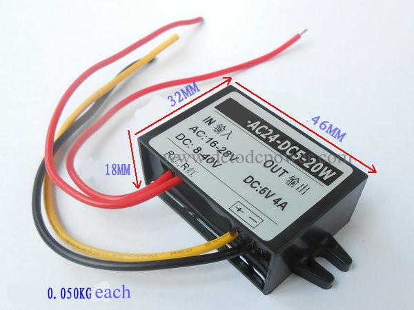 ac-dc power supply module 5v buck module AC24V turn DC5V 24V AC to DC 5V4A3A2A1A