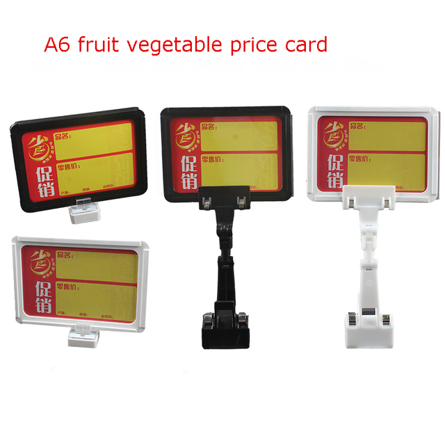 A6 Black white Magnetic Price Tag Frame Supermarket Price Card ...