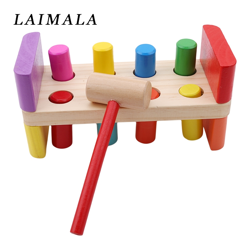 Beat-Toys Hammer Kids Wooden Baby With Multifunctional-Tool Maintenance-Box Nut Combination