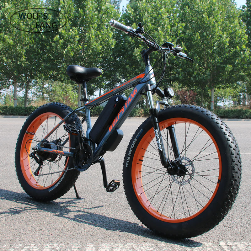 Wolf's fang Dual Disc Brake Electric Bike City electric bike Lithium Battery Bicycle 48V500W 13AH ebike Ladies free delivery