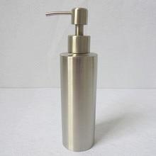 1 UNID Desinfectante de manos Botella Dispensador de Jabón Líquido de Acero Inoxidable para Baño Cocina Encimera Baño Accesorio KE 1488
