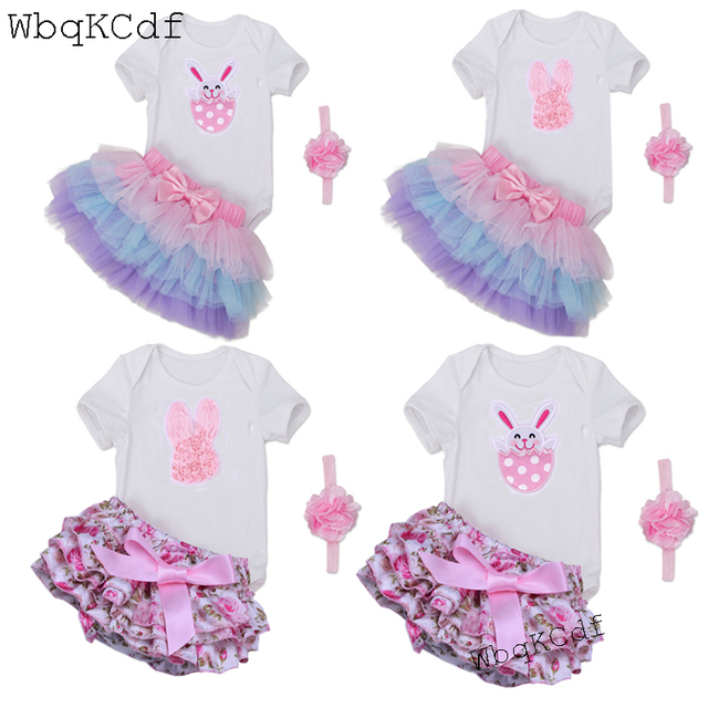 7fb260c08910 Summer Newborn Baby Girl Infant Rompers Fashion Cotton Easter Rabbit ...