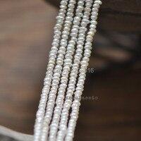 5*7 MÉT hoặc 3*4 MÉT 2 Strands/Gói AA Tự Nhiên Trắng Ngọc Trai Nước Ngọt Strands Jewelry hạt