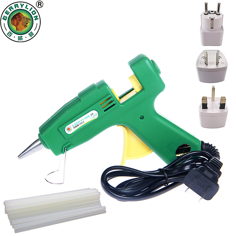 Professional Hot Glue Gun 20W Hot Melt Silicone Glue Gun Repair Heat Tool With 10pcs Hot Melt Glue Sticks home professional high temp heater 20w hot melt glue gun repair heat tools eu plug with 1pc glue stick kf