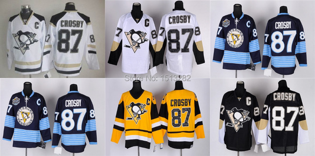 03ceaeb8280 Free Shipping Stitched #87 Sidney Crosby Jersey Men's Pittsburgh Penguins  Hockey Jerseys Team Color Home Authentic Jerseys