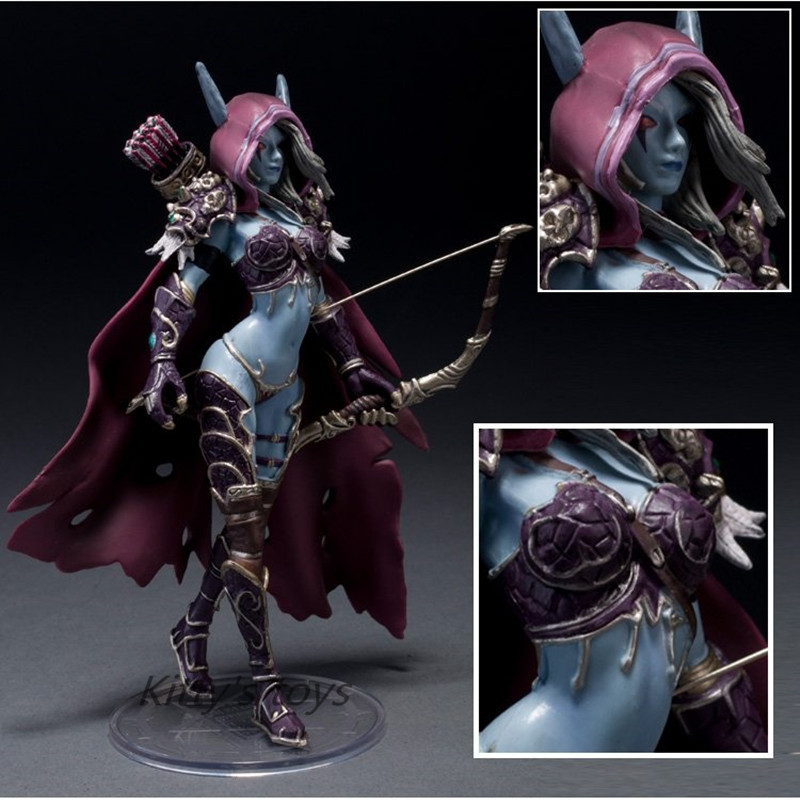 14cm WOW Action Figure Toys Sylvanas Windrunner Darkness Ranger Lady PVC WOW Figure For Collection Annie Brinquedos Model KA0444 russell athletic повседневные брюки