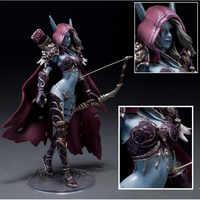 Figurine 14 cm WOW jouets Sylvanas vibreur ténèbres Ranger dame PVC figurine pour Collection Annie Brinquedos modèle KA0444