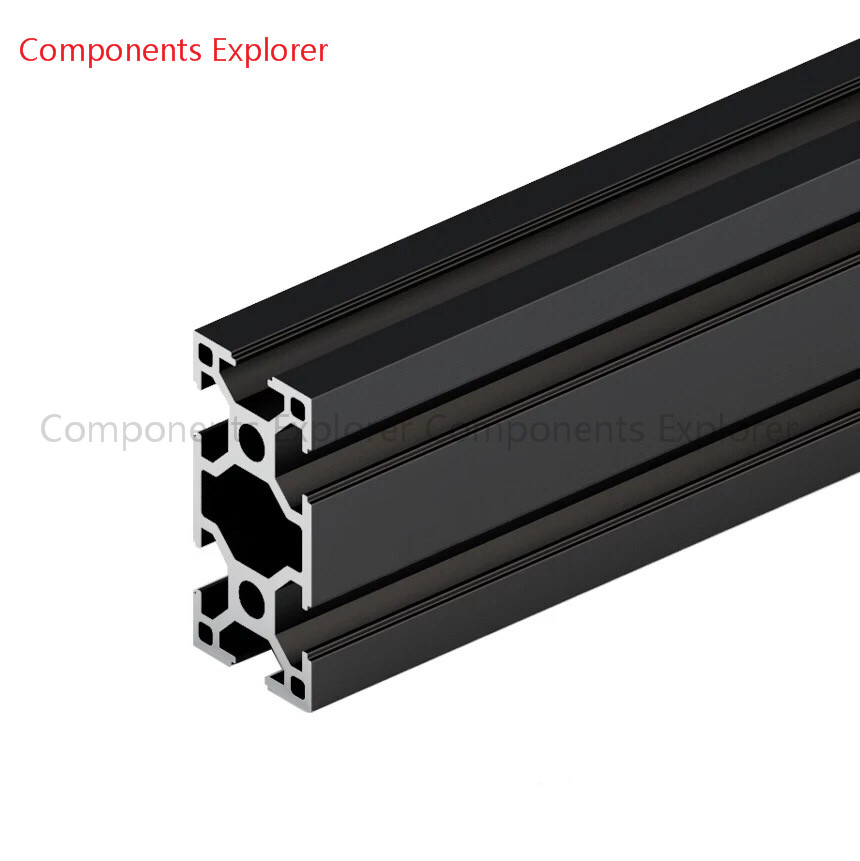 Arbitrary Cutting 1000mm 3060 Black  Aluminum Extrusion Profile,Black Color.