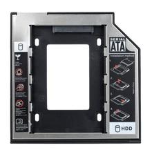 """Универсальный 9.5 мм Пластик + Алюминиевый 2.5 """"SATA HDD SSD Caddy Дело HDD Корпус для Ноутбуков Оптические диск"""