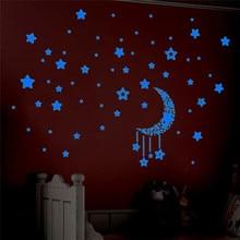 Estilo de la manera Pegatinas Glow In The Dark Decal Bebé Embroma Estrellas Luminosas Pegatinas dormitorio Decoración Para El Hogar Calcomanía #10 2016 Regalo 1 unid