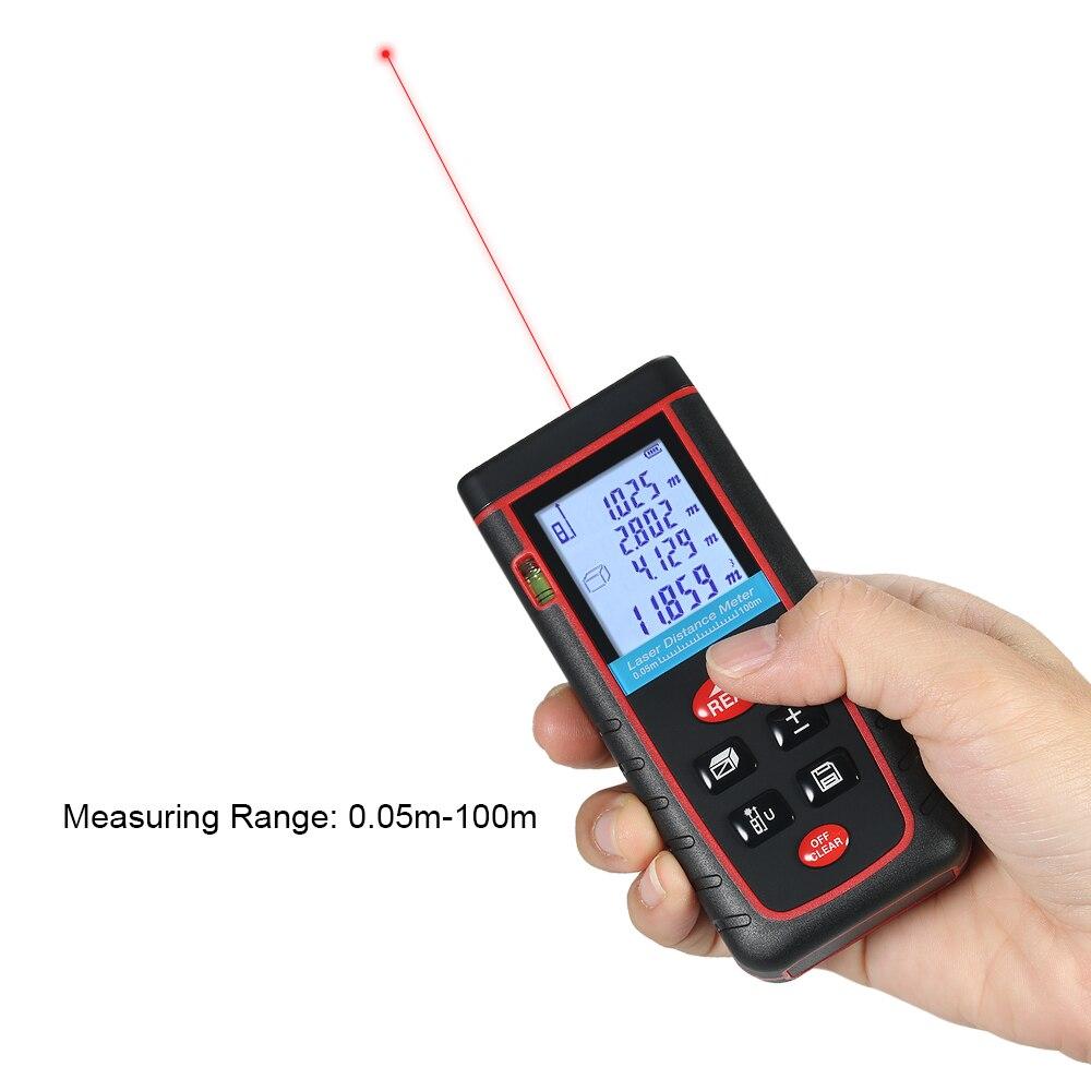 100% Waar 100 M Bouw Gereedschap Mini Laser Afstandsmeter Digitale Laser Afstandsmeter Laser Meetlint 30 Data Opslag De Laatste Mode