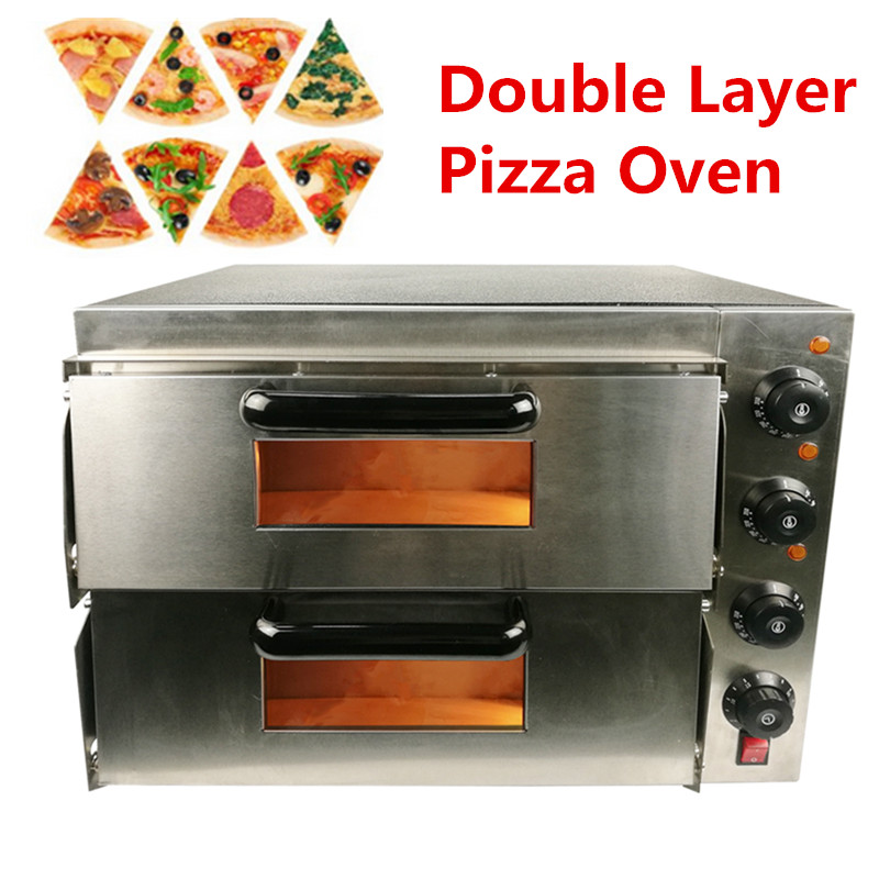 Brand New Commercial Electric Pizza Oven Double layer 16 Inch Pizza Baking Machine 3000W Baking Oven pf ep 18 stainless steel electric conveyor pizza oven use for commercial pizza machine 18