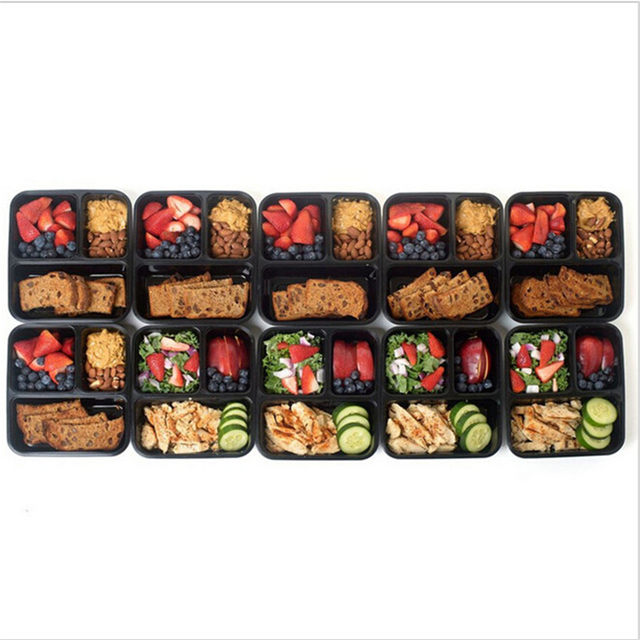 3-Compartment-Reusable-Plastic-Food-Storage-Containers-with-Lids-Microwave-and-Dishwasher-Safe-Bento-Lunch-Box (2)