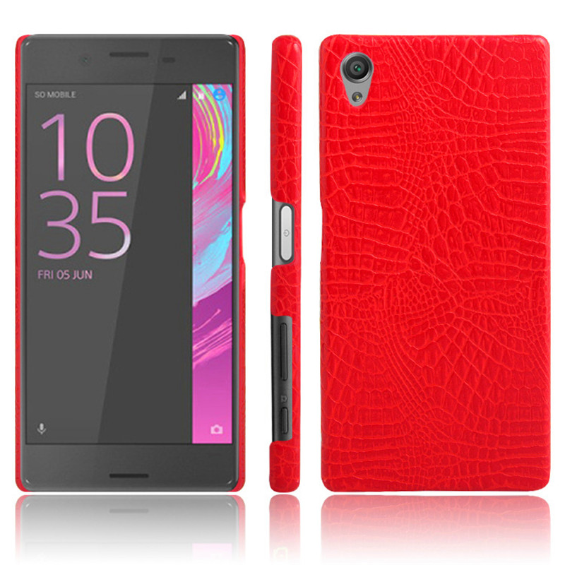 For Sony X F5121 F5122 Case Quality PC Crocodile Grain Back Cover Hard Case for Sony Xperia X F5121 F5122 F 5121 5122 Capa in Fitted Cases from Cellphones Telecommunications