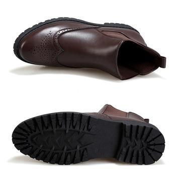 Black Brogue Chelsea Boots Mens Shoes An...
