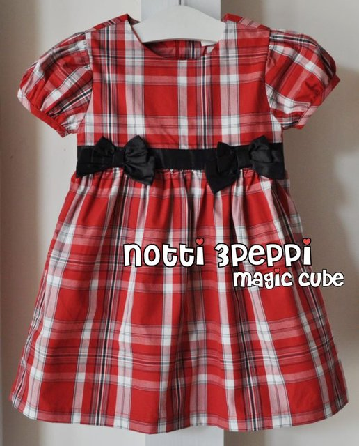 free shipping Wholesale - - New arrive 2012 summer babycloth Black and Red Plaid dress onepiece partydress