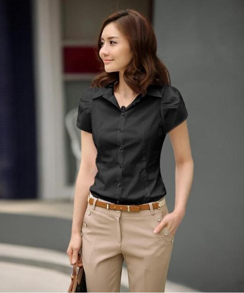 HTB1DIYzKFXXXXcXXpXXq6xXFXXXw - High Quality Fashion Womens short-Sleeve Chiffon Shirt