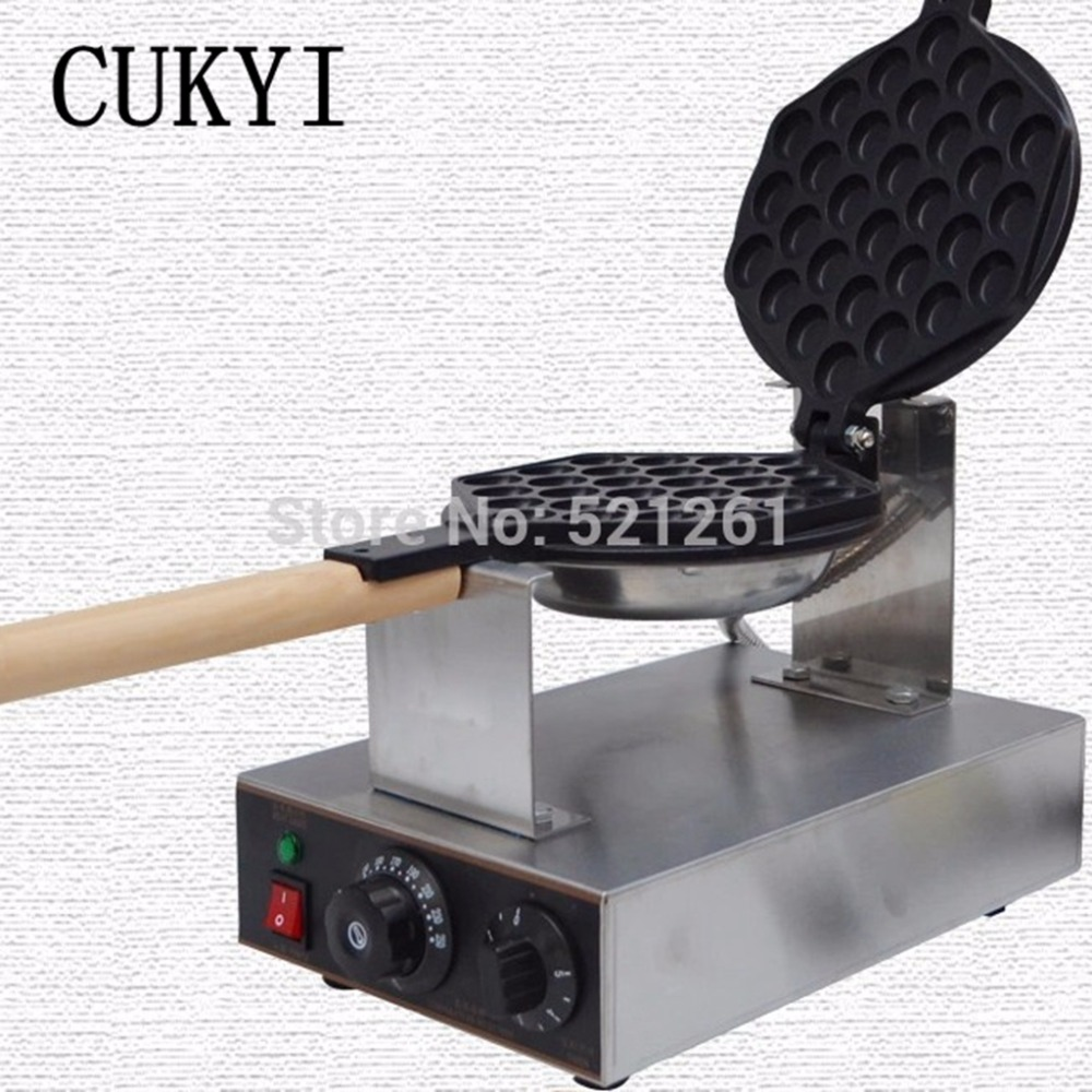 CUKYI Stainless Steel Electric Eggettes Egg Waffle Maker Kitchen Appliance  High Quality(China (Mainland