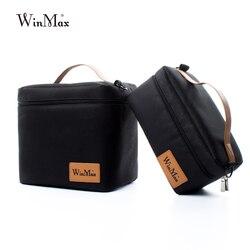 Winmax Заводская розетка черная термоизолированная Повседневная коробка-сумка для обеда наборы портативный пищевой свежий держать большой к...