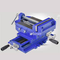 Two Way Movement Bench Drill Operating Platform Flat Tongs Precision Bench Vise Clamp Tool Heavy Duty Cast Iron Plain Vice