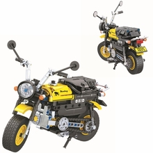 Technic MOC Yellow Motorcycle Building Blocks Set Bricks Classic Model Kids Toys For Children Gift dhl lepin 05083 star classic wars moc series the nebulon b medical frigate set building blocks bricks funny toys model legoed