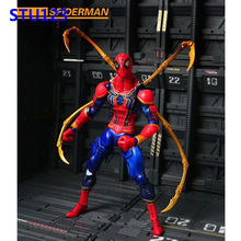 Os Vingadores: infinito Guerra Super hero Spider-Man Engrenagem Ferro conjunta Spiderman PVC Action Figure Collectible Modelo Toy Box 17 cm n759(China)