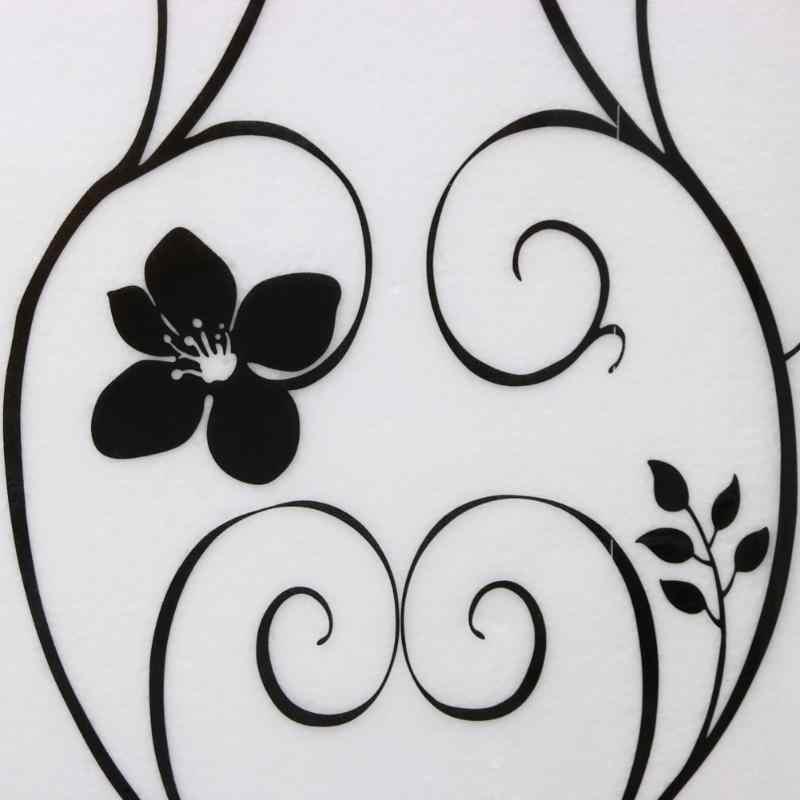 45*100 centimetri Opaco Satinato Finestra di Vetro Della Parete Della Pellicola Privacy Autoadesivo di Vetro in bianco e Nero In Ferro Battuto Fiore Bella decor