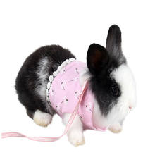 New Small Animal Leash Rabbit Dutch Rat Guinea Pig Chest Strap Small Pet Clothes Chinchillas Spring And Summer Dress Small Pet(China)