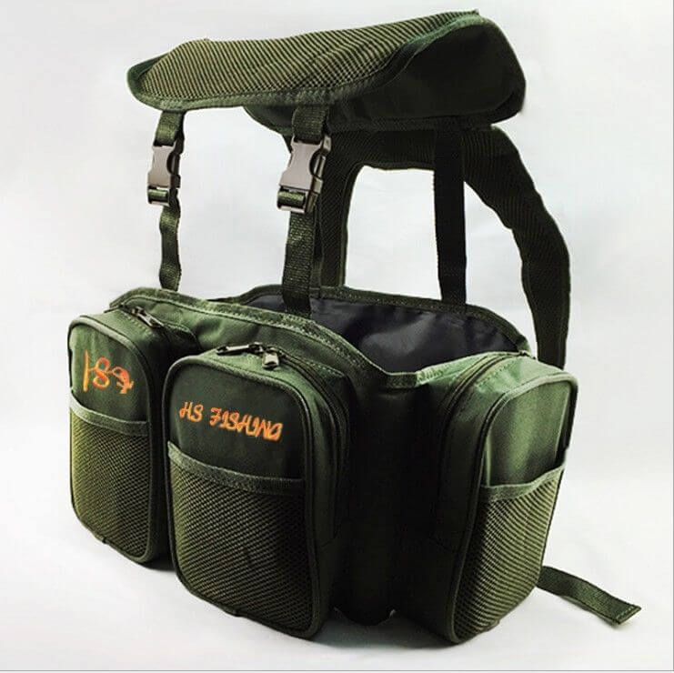 Carp Sea Fishing Green Harness bag Pack Rucksack Converter Pocket for all Seat Box Tackle Boxes