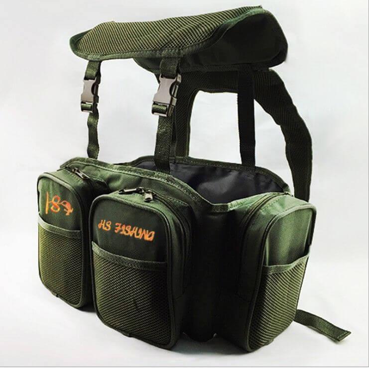 Carpa pesca de mar verde arnés bolsa mochila convertidor de bolsillo para todos asiento caja abordar cajas de agua salada agua dulce 40*20*38 cm