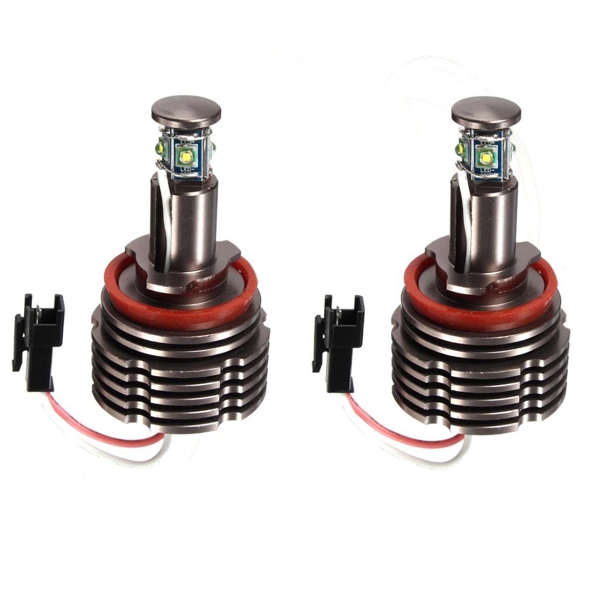 New 1 Pair Led Angel Eye Ring Light lamp Bulb Xenon White Error For BMW E82 E87 E88 E90 E91 E92 E60 E61 E63 E64 H8 40W