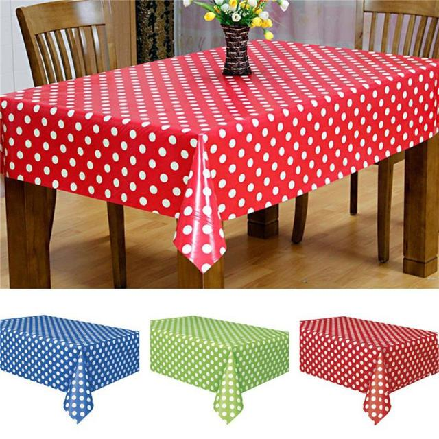 Waterproof Oilproof Plastic Tablecovers Table Cloth Cover Party