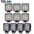 TC-X 10 PCS Wholesale 12V/24V 48W LED Work Lights Square Offroad LED Extra Light Portable Flood Car Light for Tractor Truck