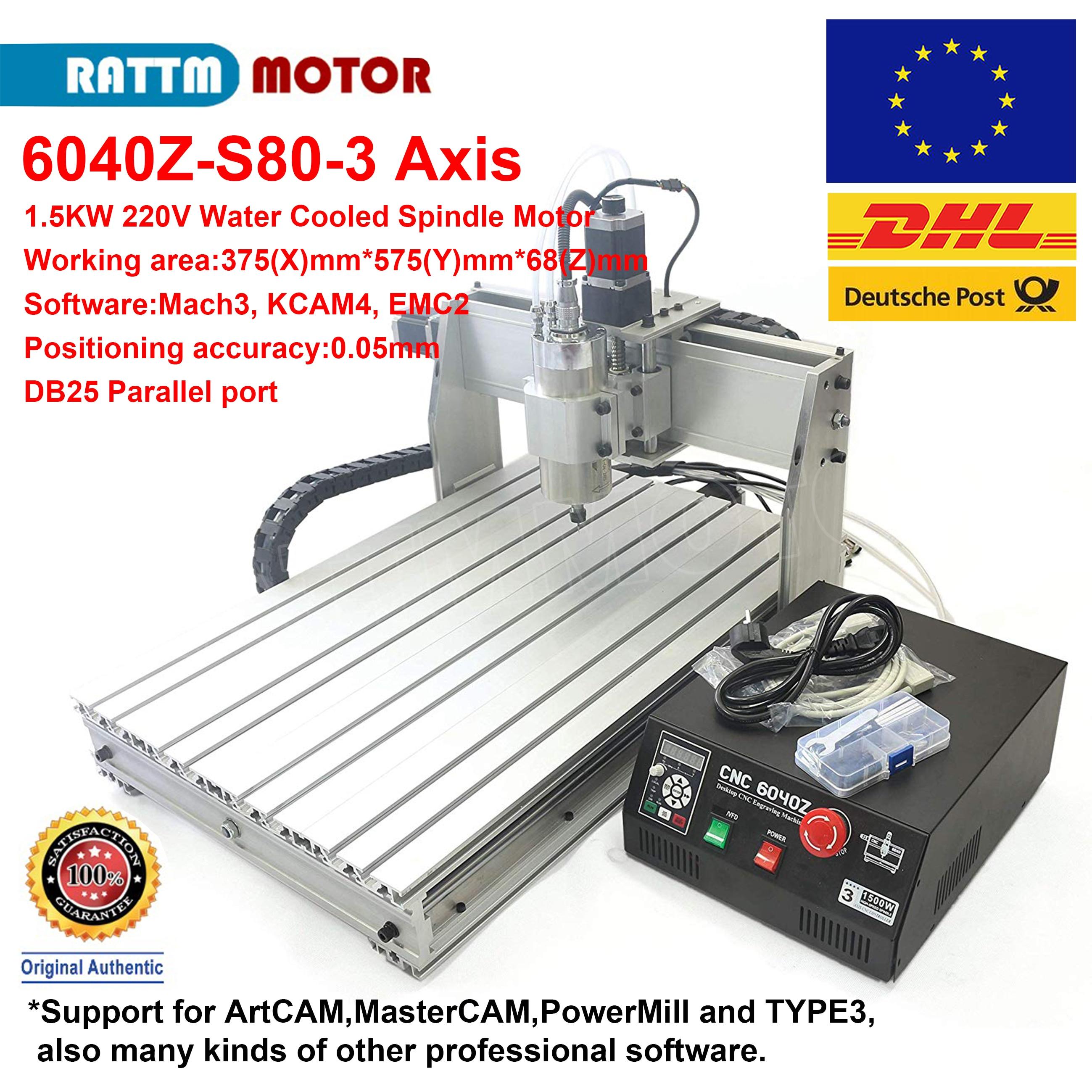 1.5KW CNC 6040Z 220VAC 3 axes refroidi à l'eau MACH3 graveur gravure Machine support LPT Port CNC routeur fraiseuse