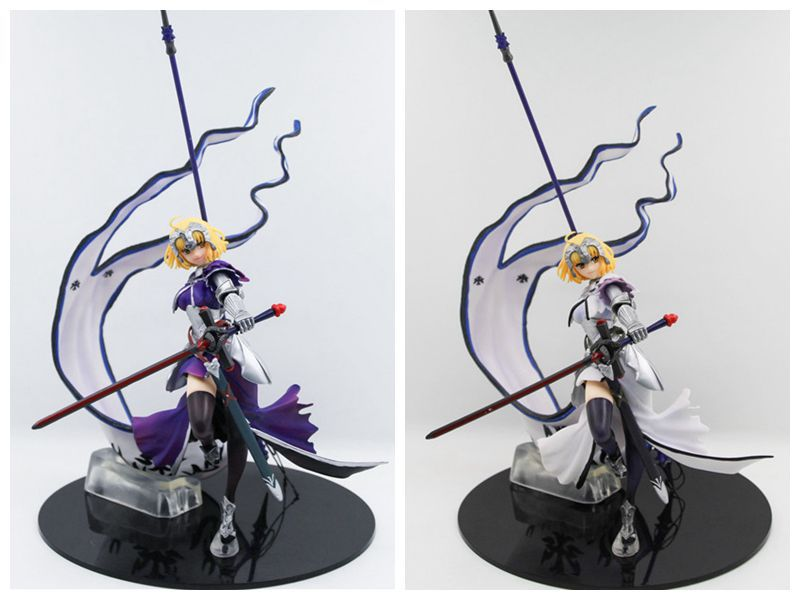 Huong Anime 32CM Fate stay night Fate/Apocrypha Jeanne d'Arc Ruler Alter Saber Lily PVC Figure Collectible Model Toy Gift huong anime figure 20 cmfate stay night fate zero apocrypha joan of arc pvc action figure toy model collectibles