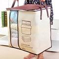 Нетканые тканевые сумки для хранения стеганых одеял Органайзер Домашний для хранения портативный шкаф с защитой от пыли бамбуковая сумка д...