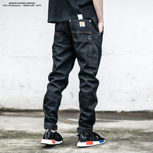 Fashion JEANS MEN 2016 men's jeans Casual Pants High Quality Tactical Denim Multi Pocket Male Trouser Cargo Skinny Jeans for Men