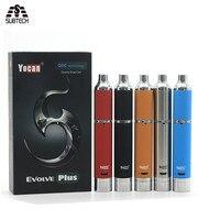 Original Yocan Evolve Plus Vaporizer Wax Vaporizer Electronic Cigaertte Pen With Quartz Dual Coil 1100mah