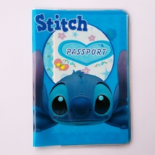 Cartoon lilo Stitch ID posiadacz karty Passport Holder PVC skóra 3D Design Passport okładka 14 * 9 6 CM paszport posiadacza tanie tanio Posiadacze kart IDENTYFIKATOROWYCH Lilo stitch ID Card Holder Bez zamków błyskawicznych 9 6 cm od Pole Casual Przyjaciele na zawsze
