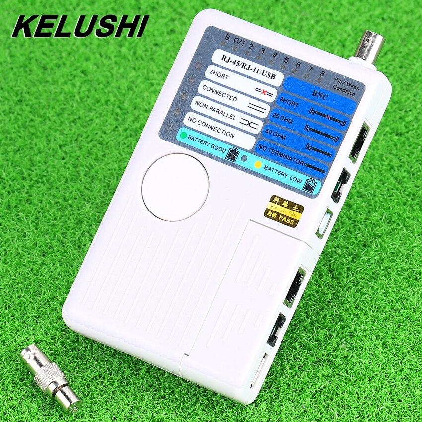 KELUSHI Date Arrivée En Réseau outils 4 dans 1 RJ11 RJ45 USB BNC Réseau LAN Testeur de Câble pour Câbles Tracker Détecteur vente chaude
