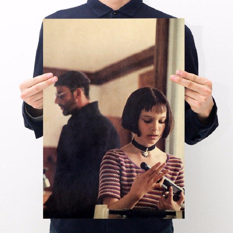 Life classic Jean Reno Portman movie/ Leon B/kraft paper/bar poster/Wall stickers/Retro Poster/decorative painting 51x35.5cm