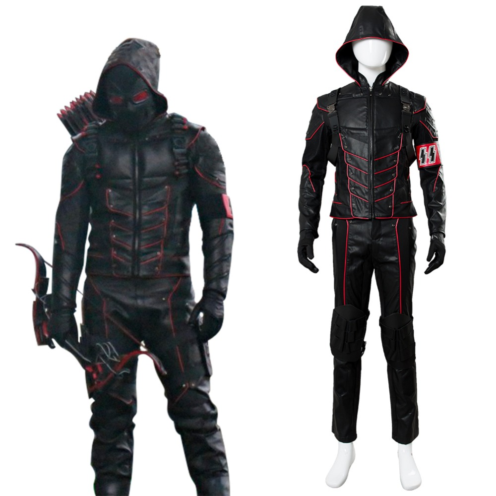 Hot Anime Arrow Dark Arrow Tommy Merlyn Cosplay Costume Outfit Adult Men Halloween Carnival Cosplay Costume High Quality