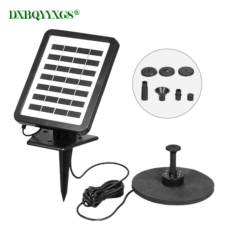 Solar plus battery landscape Fountain device LED Bird Baths brushless Water Pump For Outdoor Family Garden