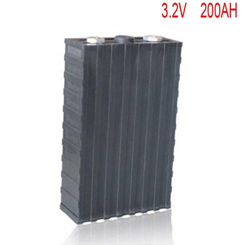4 pcs/lot Rechargeable 3.2 V 200Ah Lithium ion LiFePO4 Batterie modèle Batteries pour EV/UPS/BMS/Puissance de stockage/système d'énergie solaire